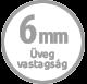 6mm üveg