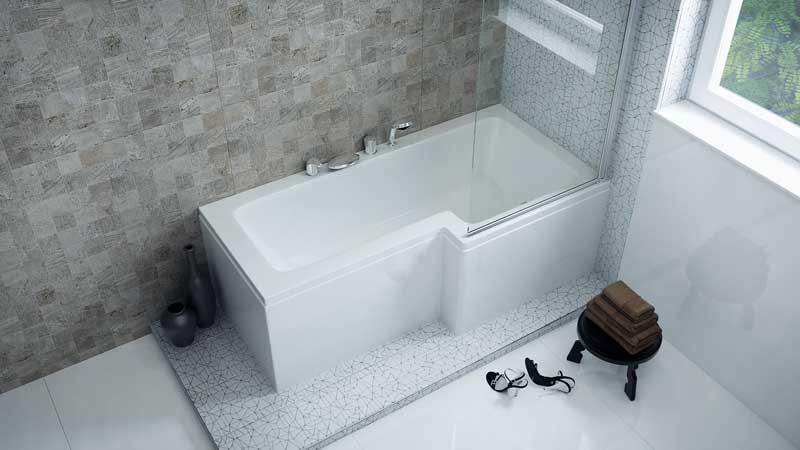 Linea kád zuhanyzótérrel