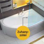 Kád is zuhanykabin is – Kettős élmény az aszimmetrikus kádban