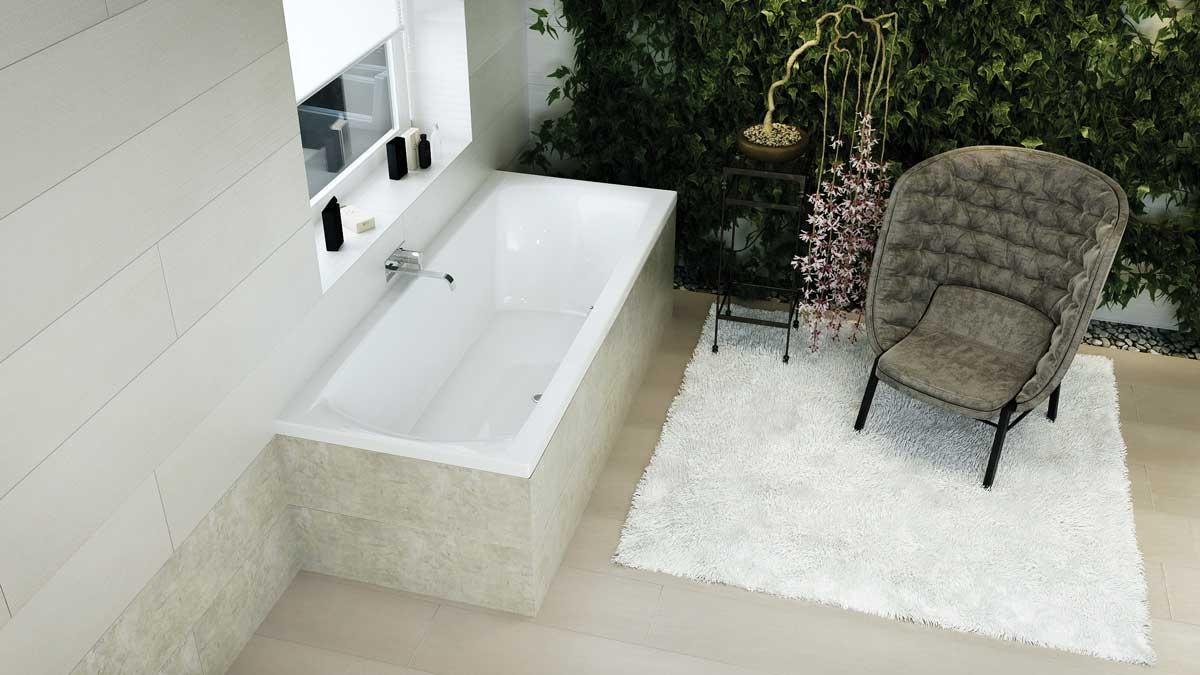 M-Acryl Helena egyenes fürdőkád