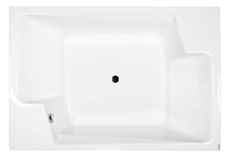 M-Acryl Grande különleges akril kád felülnézet