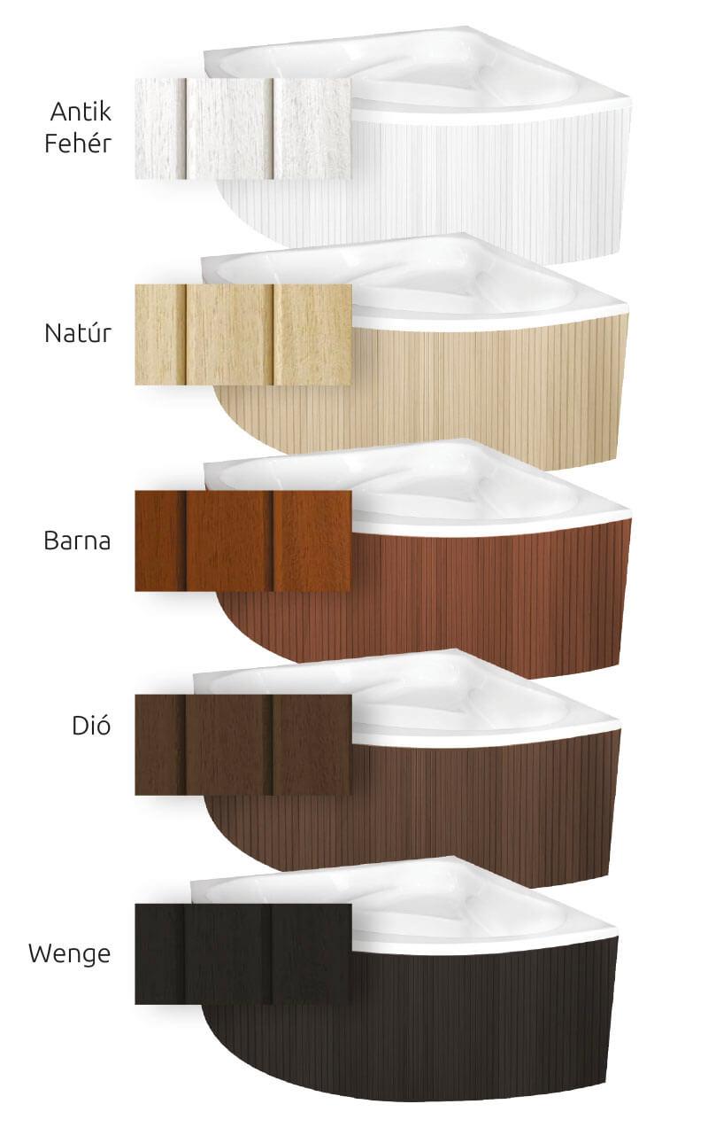 Valódi fa előlap fürdőkádhoz