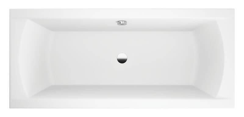 M-Acryl Noé egyenes akril fürdőkád felülnézet
