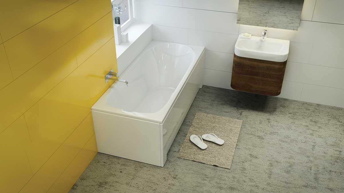 M-Acryl Sortiment egyenes akril fürdőkád