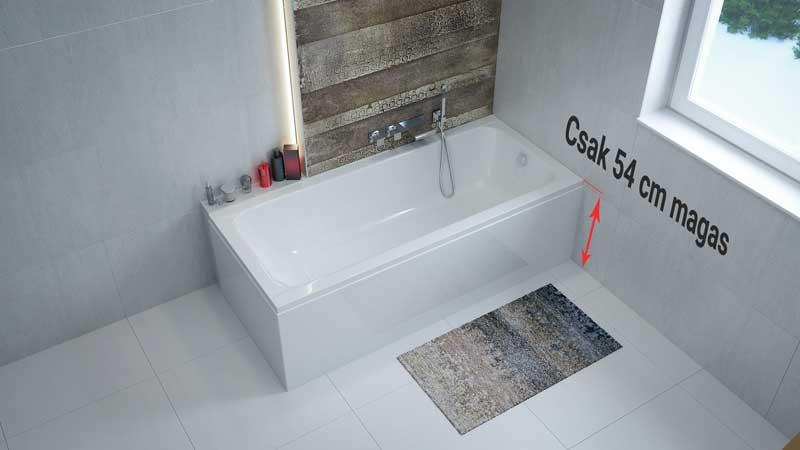 Az idősek népszerű fürdőkádja, amelybe könnyű belépni