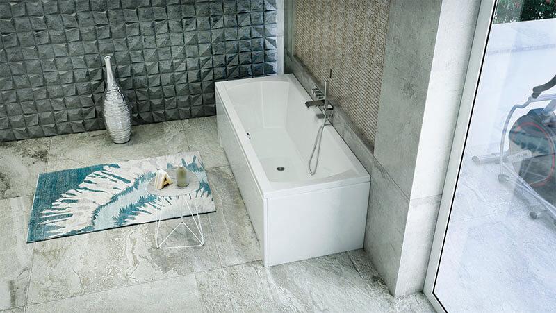 M-Acryl Noé egyenes fürdőkád
