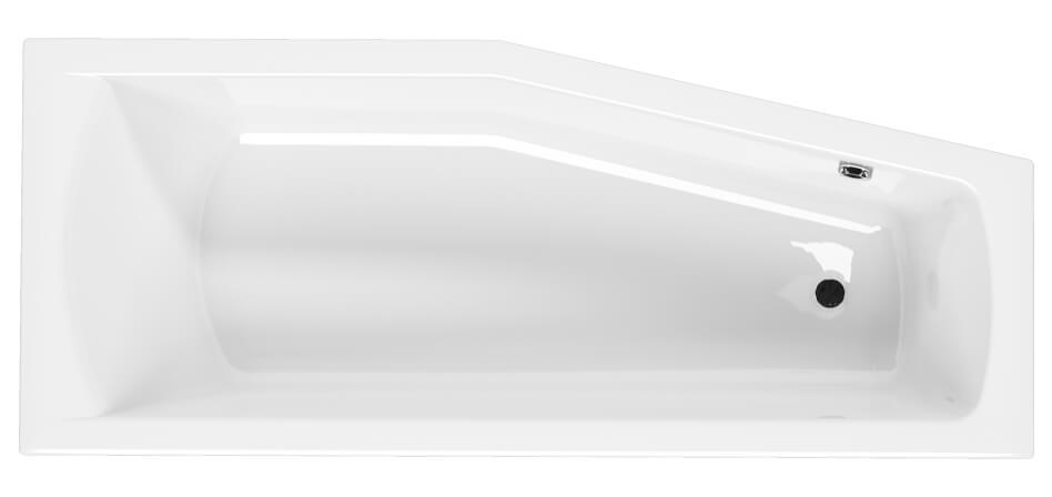 Linea aszimmetrikus akril kád felülnézet