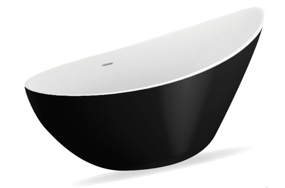 M-Acryl Paradise térben álló kád - matt fekete