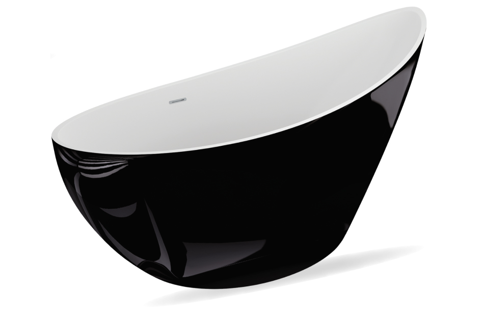 M-Acryl Paradise térben álló kád - fekete