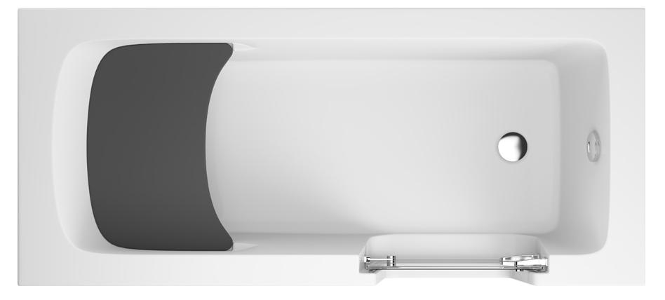 M-Acryl Héra akadálymentesített fürdőkád ajtóval