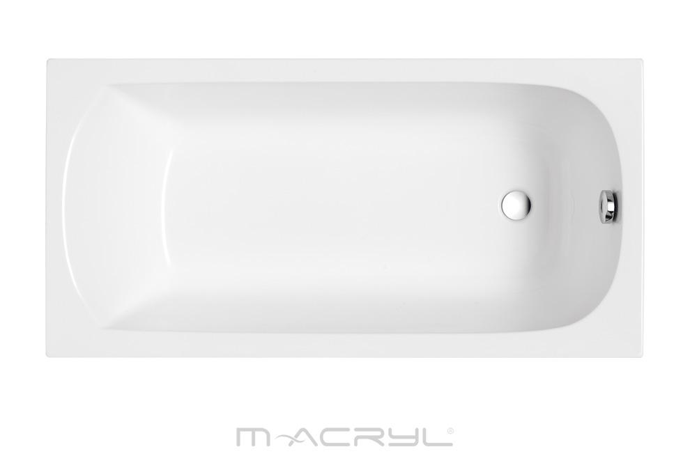 M-Acryl Mira egyenes akril kád felülnézet