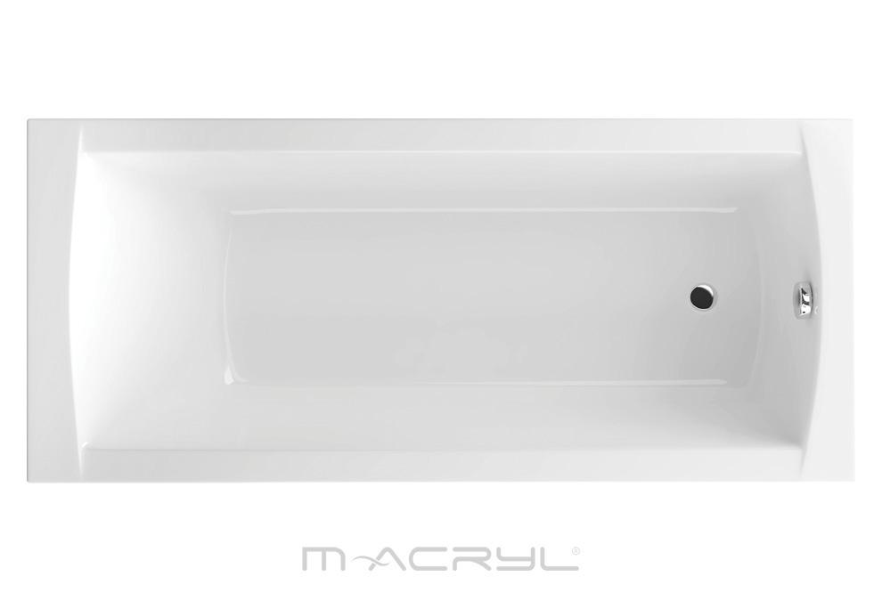 M-Acryl Viva egyenes kád felülnézet