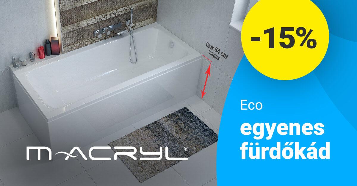 M-Acryl ECO fürdőkád kedvezmény