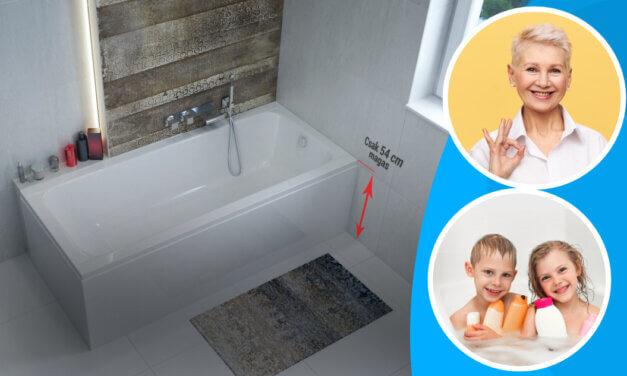 Csodakád: biztonságos, kényelmes, víztakarékos – Az Eco egyenes fürdőkád