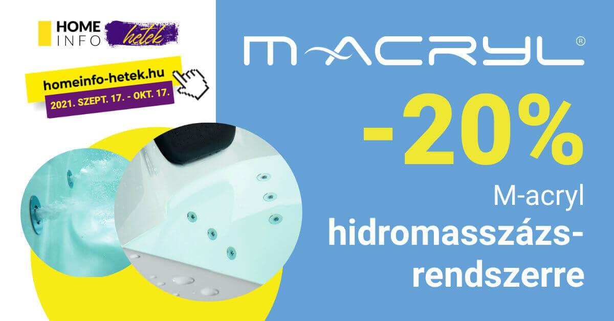 M-Acryl hidromasszázs-rendszer akció homeinfo őszó