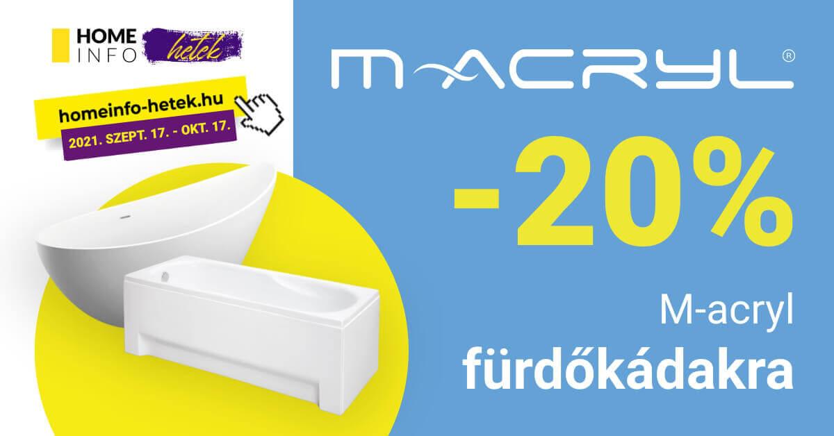 M-Acryl fürdőkád akció homeinfo ősz